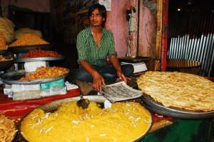 Kashmir food, street food kashmir, kashmir snacks, paratha halwa,
